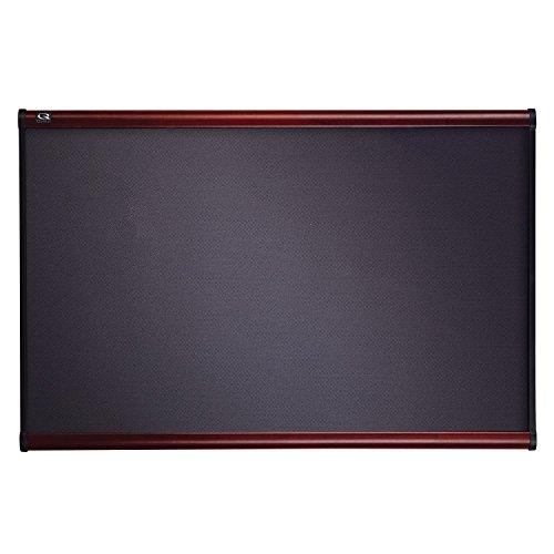 Quartet Prestige Grey Diamond Mesh Fabric Bulletin Board 4 x 3 Feet Mahogany Finish Frame B444M