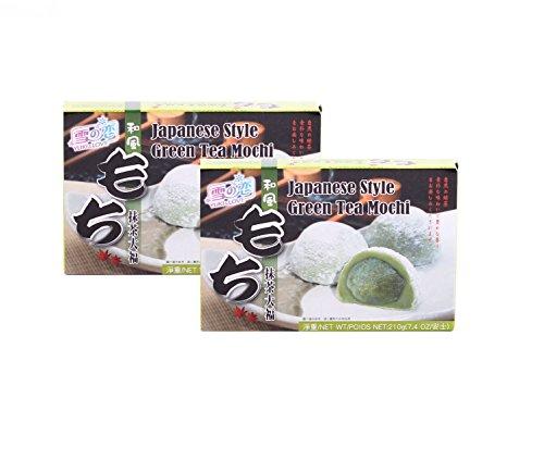2 x 210g MOCHI Reiskuchen mit Grüntee Füllung O-Mochi Mochis Grüner Tee Pamai Pai®