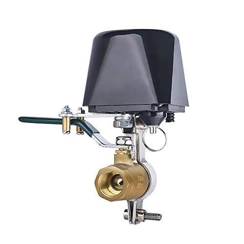 WIFI Manipulador de válvula de agua/gas compatible con Tuya/Alexa/Google Assistant,WiFi Controlador de válvula Inteligente para agua gas,remoto inalámbrico control 4 puntos 1/2 110V-240V