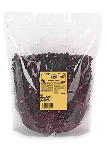 KoRo - Gefriergetrocknete Wildheidelbeeren 500 g - Voller Geschmack schonend Getrocknet