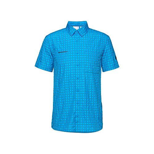 Mammut Herren Kurzarm-hemd Lenni, blau, 3XL
