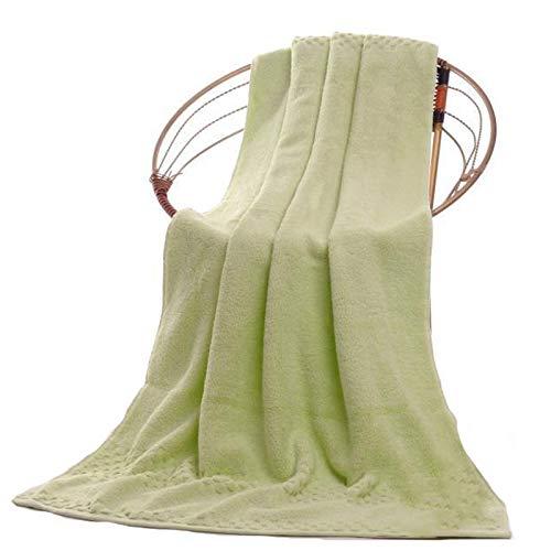 Tauzveok Toalla de baño Absorbente Toalla de baño Suave Microfibra en Ultra Suave algodón y baño Absorbente y SPA (dimensión: 70 * 140 cm / 90 * 180 cm),Verde,90 * 180cm