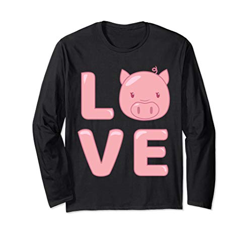 I Love Pig Face | Funny Cute Animal Long Sleeve Shirt