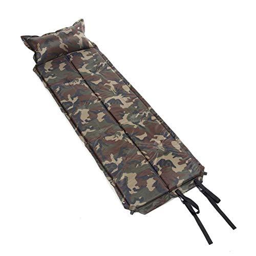 YLIKD Camping mat 185 * 60 * 2.5cm Camouflage Automatische Opblaasbare Zelfopblaasbare Dampproof Slaapkussen Tent Air Mat Matrassen met Kussen voor Camping