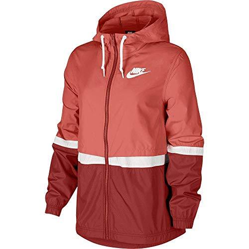 Desconocido Unbekannt Nike Sportswear Woven Jacket Softshelljacke Damen S helles Rotholz/Zeder/Weiss/Weiss