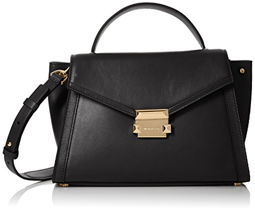 Michael Kors Damen Satchel Tornistertasche, Schwarz (Black), 18x10x28 Centimeters