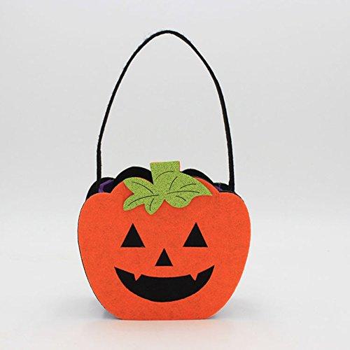 FairOnly – Disfraz de Halloween de Fieltro Creativo no Tejido Ghost Calabaza Bolso de Mano Bolso de Mano Decoraciones Accesorios