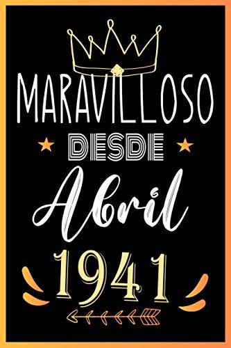 MARAVILLOSO DESDE ABRIL 1941: Regalo de cumpleaños de 80 años para mujeres y hombres, Idea de regalo de cumpleaños para los nacidos en ..un ... para recordar, idea de regalo perfecta.