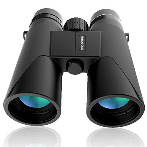 Binoculares, FUBOZONE12x 42 BAK-4 binoculares HD FMC Impermeable Ultra HD óptico Prismáticos Ideales para Observación de Aves Animales Salvajes Acampad Conciertos Fútbol Baloncesto (Negro 1)