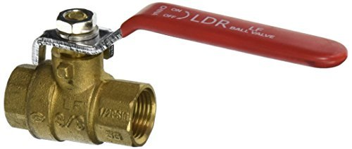 LDR 022 2262 3/8-Inch Full Port Heavy Duty Ball Valve, Lead Free Brass by LDR Industries