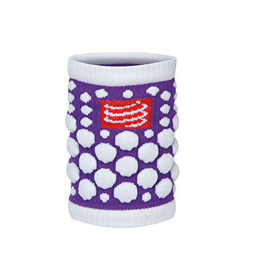 Compressport Schweißband Sweat Band 3D Dots Fluo, Violett, One Size