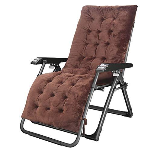 ZBBN Tumbonas, hamacas, tumbonas de relajación y relajación, sillas de terraza ingrávidas, jardín reclinable con Cojines Marrones para terraza, Piscina, Camping, Playa Máx.200 kg