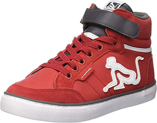 DrunknMunky Boston Classic, Sneaker a Collo Alto Bambino, Rosso (Red Dark Gray B07), 29 EU