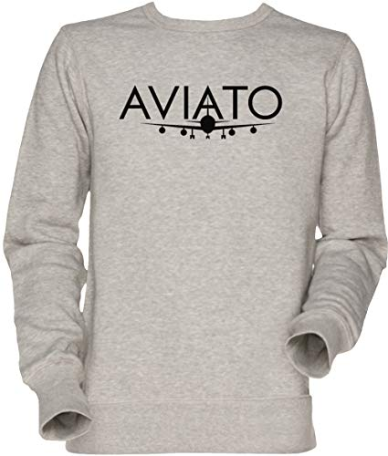 Vendax Aviato Herren Unisex Herren Damen Jumper Sweatshirt Grau Men's Women's Jumper Grey