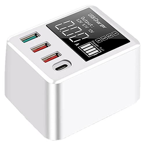 Hainice Cargador USB 40W QC3.0 rápida 4 Puertos LED Display Pared del Recorrido del Muelle de Carga para el teléfono Inteligente