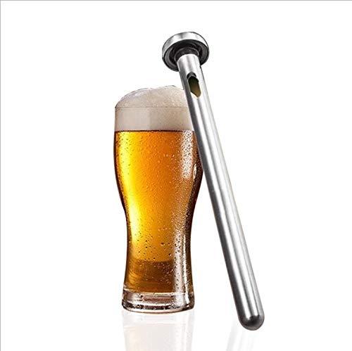Newton Tyler Edelstahl Bierkühler, Edelstahl Flaschenkühler Cooling Weinkühlerstab Chiller Sticks Weinkühler Kühlstab für Bar,Draussen Strand Party Trinken BBQ