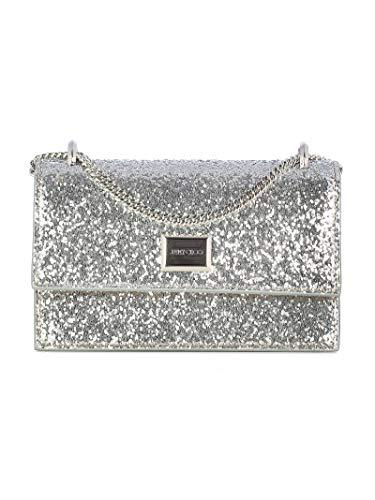 Jimmy Choo Luxury Fashion Donna LENICIGSILVERSILVER Argento Borsa A Spalla   Autunno Inverno 19