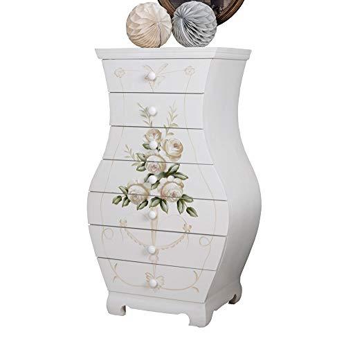 Lyra Kommode Schubladen Antik-Stil Wilde Rose Shabby FRF02 Palazzo Exklusiv