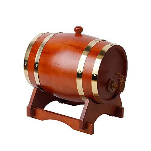 Yimihua Barril de Vino Vintage de Madera de Roble del Barril de Vino, Almacenamiento Compartimiento de la Cerveza Barriles, for Vino y el Brandy Cerveza Tequila Whisky Ron (Color : F, Size : 5L)