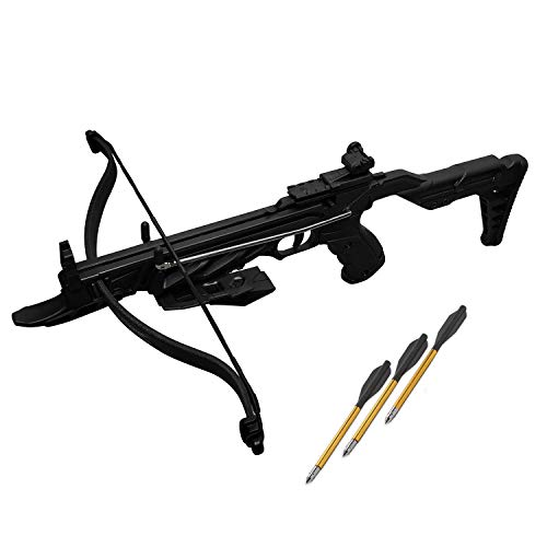 Southland Archery Supply 80 Pound Self-Cocking Pistol Crossbow (Pistol Crossbow with Adjustable Stock)