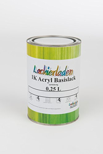 Lackierladen 1K Acryl Basislack 0,25 Liter spritzfertig Autolack Skoda 9153 / LF8J / 9J Seda Anthracite/Anthracite Grau Effect