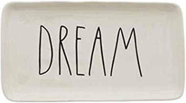 Rae Dunn DREAM in large letters 9 inch Dessert Serving Decorative Tray Platter. By Magenta.