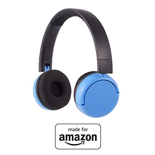 All New, Made for Amazon, Volume Limiting Bluetooth BuddyPhones, PopTime in Blue. Ages (8-15)