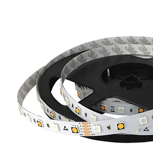 iluminize LED-Streifen RGB+W Meterware (1-20m, Lieferung am Stück): hochwertig und hoch selektiert, RGB+W (2700K Ra 95), 60 LEDs/m, 24V, 16,5W/m, Steuerungstechnik nicht enthalten (IP33 Meterware)
