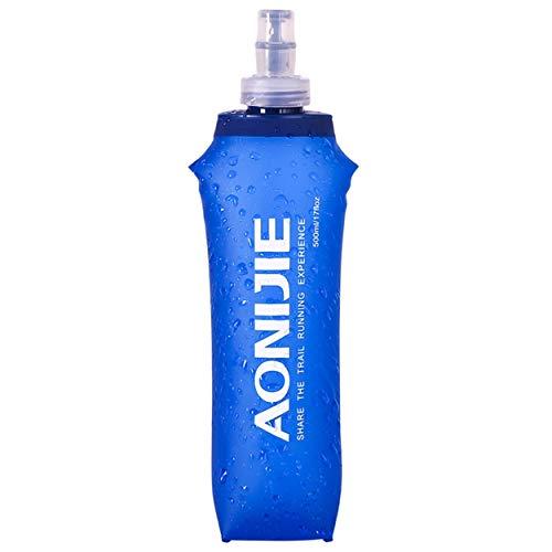 Azarxis Soft Flask Botella de Agua Blanda TPU Flexible Bolsa de Hidratación Deportiva para Correr Senderismo Ciclismo (500ml)