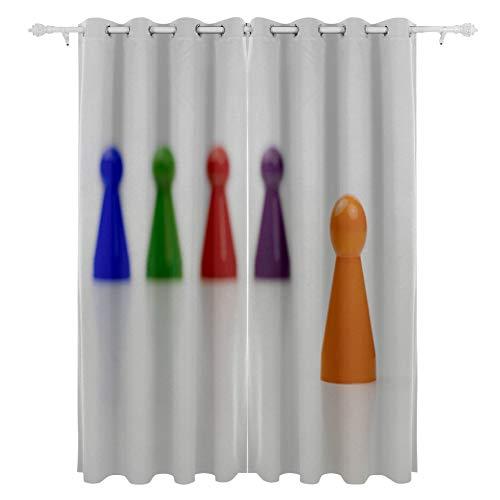 JIUCHUAN Brettspiel Bauern Zusammenarbeit kooperativ hängend 2 Panel Set gedruckt Blackout Fenstervorhänge für Schlafzimmer Wohnzimmer Esszimmer Fenster Vorhänge 54x84 Zoll Vorhang