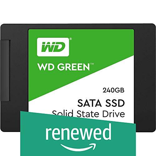 WD Green SSD 240 GB, 2,5 Zoll interne Festplatte bis zu 545 MB/s Lesegeschwindigkeit; SSD (Solid State Drive) - SATA 6 Gbit/s (Generalüberholt)