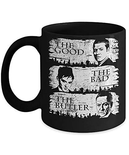 The Good, The Bad and The Butler (B) von: – Diese 325 ml Gotham TV-Show inspirierte Keramik Gotham Kaffeetasse Kakao Tee Tasse ist das perfekte Gotham Merchandise Geschenk.