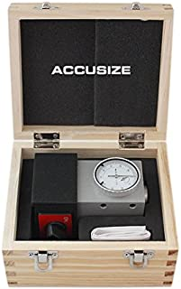 Accusize Industrial Tools 0-0.1'' by 0.001'' with Magnetic Base, 4'' Height, Z Axis Zero Setting, 2124-2002