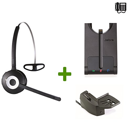 Nortel Compatible Jabra PRO 920 Wireless Headset Bundle | Electronic Remote Answerer included | Nortel Phones: Meridian, Maestro, Norstar, Nortel Networks, Rapport, Unity, Vantage, Venture