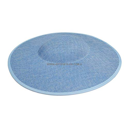 Artipistilos Base Para Tocado Verit - Azul Claro - Pamelas De Fibras Naturales
