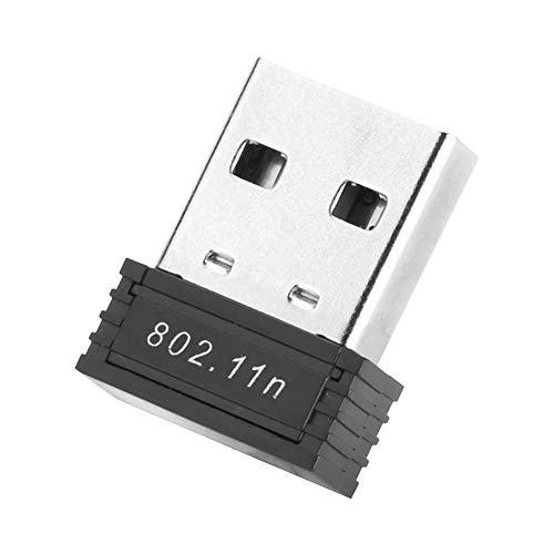 Topiky Adaptador USB WiFi, 150M Mini USB 2.0 Adaptador USB WiFi Dongle Receptor inalámbrico de Tarjeta de Red para computadora portátil de Escritorio