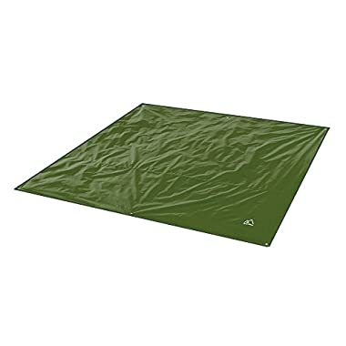 Terra Hiker Camping Tarp, Water proof Picnic Mat, Mutifunctional Tent Footprint with Drawstring Carrying Bag for Picnic, Hiking (Dark Green 94  x 86 )