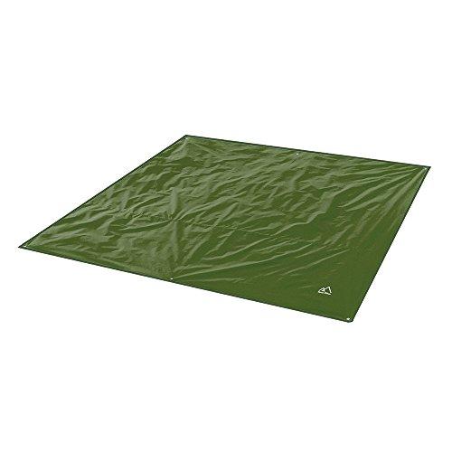Terra Hiker Camping Zelt Tarp, Outdoor Plane, wasserdichte Picknickdecke mit Tragetasche (Dunkelgrün M: 180 cm x 220 cm)