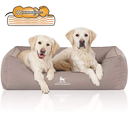 Knuffelwuff Orthopädisches Wasserabweisendes Hundebett Leon XL Beige/Grau
