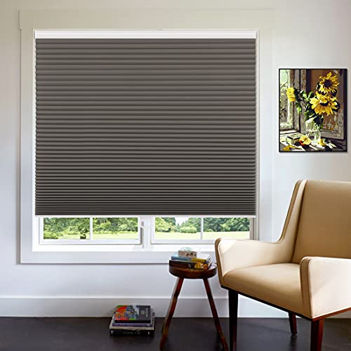Keego Cellular Shades Cordless Blackout, Custom Cut to Size Honeycomb Blinds for Windows, Hazel Wood, Any Size 16-59 Wide and Maximum Height 78 High