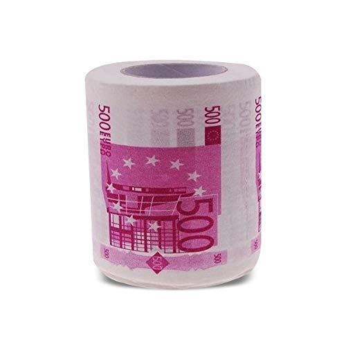 Toiletpapier in de vorm van 500 euro