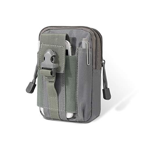 Riñonera Bolsa táctica Molle Bolsas de caza Bolsa de cintura Bolsa Militar Tactical Paquete Bolsas al aire libre Caja Bolsa de camuflaje para Senderismo Escalada Pesca Caza ( Color : Silver color )