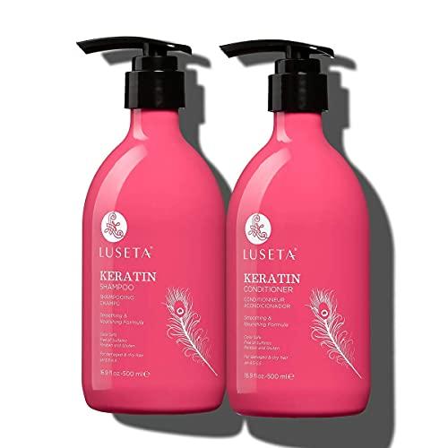 Luseta Keratin Smooth Shampoo and Conditioner Set