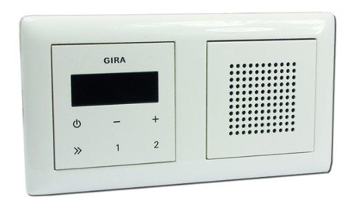 Gira Unterputz-Radio RDS mit Lautsprecher und Rahmen - reinweiß glänzend