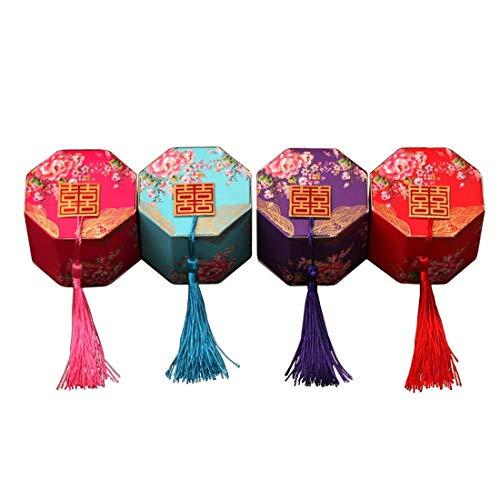 Lorigun chinesischen Stil Pralinenschachtel Hochzeit Candy Gold Stamping Box Doppel Xi Wort ist...