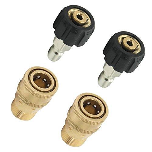 LIZANAN Tools 2 Kit M22 / 14 bis 1/4 Male Druckreiniger Quick Release Anschluss Steckverbinder Werkzeuge