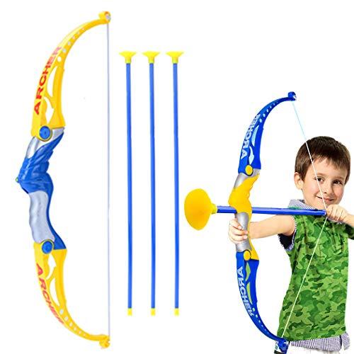 Bangcool Juego de arco y flecha para niños Práctica Ventosa Flecha Juego de tiro con arco básico Juguete al aire libre Juguetes para Bebés