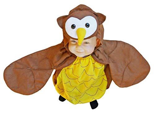 Eulen-Kostüm, F68 Gr. 86-92, für Klein-Kinder, Babies, Eule-Kostüme Eulen-Kostüme Fasching Karneval, Kleinkinder-Karnevalskostüme, Kinder-Faschingskostüme, Geburtstags-Geschenk