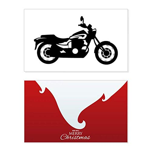 Zwarte mechanische motorfiets Illustratie vakantie vrolijke kerstkaart Kerstmis Vintage bericht