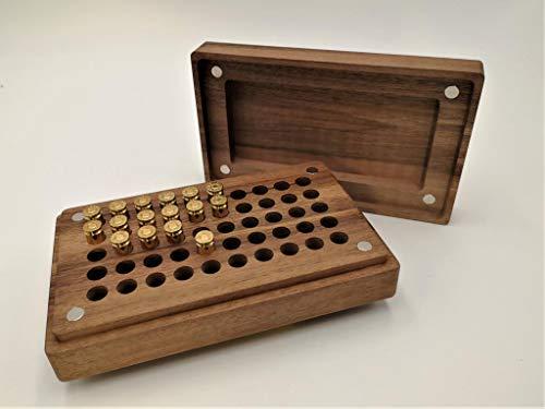 JOWE Munitionsbox aus Holz für Langwaffen | Patronenbox 50 Schuss | div.Kaliber (Eiche, 9 mm)